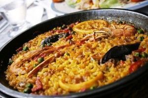 Paellea, traditional spanish dish with rice and sea fruits